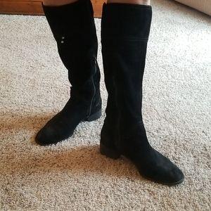 Nine West Brunero Suede Flat Boots size 7.5